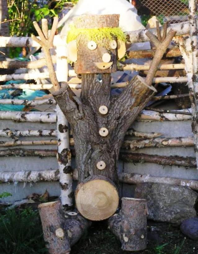 Из дерева на даче поделки из 40