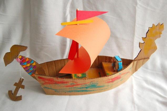 Как сделать кораблик из бумаги и картона