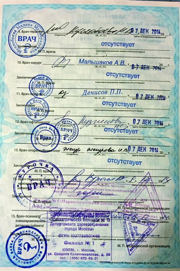 Справка для водительского удостоверения купить Лосино-Петровский