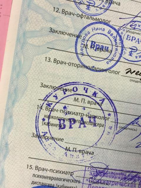 Купить мед справку для водительских прав в Лосино-Петровске с доставкой