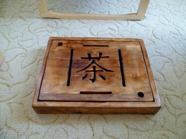 Чабань из венге с поддоном samamoko mo-22, размер 600 х 335 мм чабань, венге, китайский, чай, доска, поднос