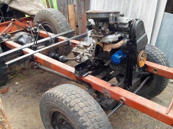 Самодельный трактор своими руками видео фото 628