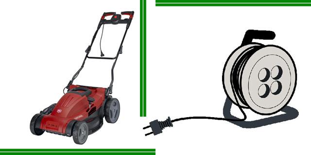 Какой нужен удлинитель для электрической газонокосилки?